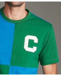 Todd Synder X Champion Rowing Tee In Cabana Green And Blue
