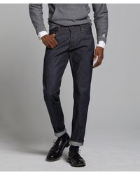Todd Synder X Champion Slim Fit Made In Usa Raw Selvedge Jean - Blue