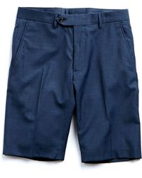 Todd Synder X Champion Tropical Wool Suit Short In Blue