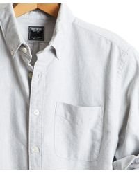 Todd Snyder - Japanese Selvedge Oxford Shirt In Grey - Lyst