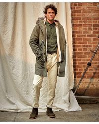 Todd Synder X Champion Italian 3-1 Wool Parka In Dusty Olive - Green