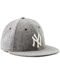New Era Hats Ny Yankees Glen Plaid Wool Hat in Gray for Men - Lyst ea368c61552