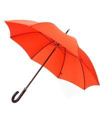 London Undercover - Malacca Handle City Lux Umbrella In Orange - Lyst