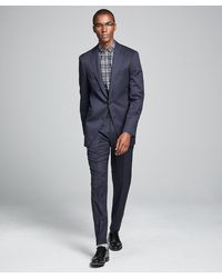 Todd Synder X Champion Sutton Stretch Tropical Wool Suit In Navy - Blue