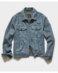 Todd Synder X Champion Italian Boucle Zip Guide Jacket - Blue