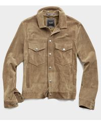 Todd Synder X Champion Italian Suede Snap Dylan Jacket - Multicolor