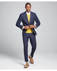 Todd Synder X Champion Wool Windowpane Sutton Suit Jacket - Blue