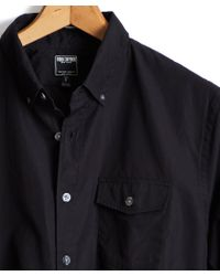 Todd Snyder - Button-down Collar Shirt With Flap Pocket In Black - Lyst