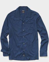 Todd Synder X Champion Italian Twill Camp Collar Shirt - Blue