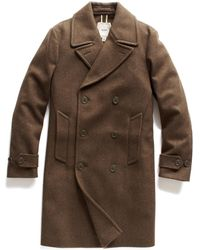Todd Synder X Champion Olive Wool Double Faced Military Coat - Green
