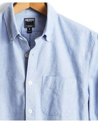 Todd Snyder - Japanese Selvedge Oxford Shirt In Blue - Lyst