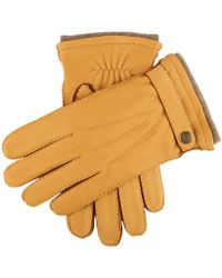 Dents - Dents Gloucester Cashmere Lined Deerskin Gloves In Tan - Lyst