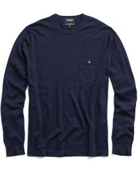 Todd Synder X Champion - Cashmere T-shirt Sweater In Navy Heather - Lyst