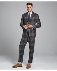 Todd Synder X Champion Oversized Check Sack Suit Coat - Gray