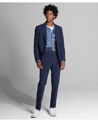 Todd Synder X Champion Italian Cotton Wool Suit Jacket - Blue