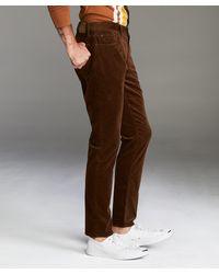 Todd Synder X Champion Slim Fit 5-pocket Italian Stretch Cord In Camel - Multicolour