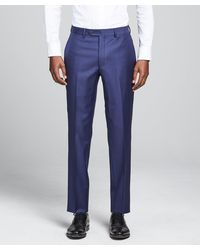 Todd Synder X Champion Sutton Suit Pant In Italian Blue Wool Twill