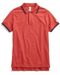 Todd Snyder - Ss Pique Polo - Faded Red - Lyst