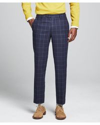Todd Synder X Champion Wool Windowpane Sutton Suit Trouser - Blue