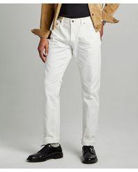 Todd Synder X Champion Slim Fit 5-pocket Chino In White