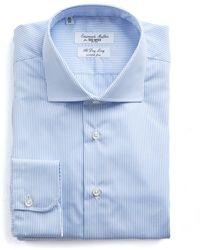 Todd Snyder - Light Blue Stripe Wrinkle Free Dress Shirt - Lyst