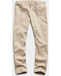Todd Synder X Champion Slim Fit 5-pocket Chino In Casual Khaki - Natural