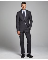 Todd Synder X Champion Sutton Suit Jacket In Italian Natural Stretch Dark Charcoal Wool - Gray