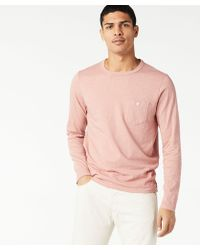 Todd Snyder - Made In L.a. Garment Dyed Ls Tee In Dusty Pink - Lyst