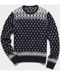 Todd Synder X Champion Retro Faire Isle Crew Sweater - Blue