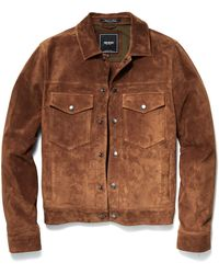 Todd Snyder - Snap Dylan Italian Suede Jacket In Nutmeg - Lyst