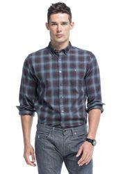 Todd Snyder - Button Down Shirt In Brown Plaid Flannel - Lyst
