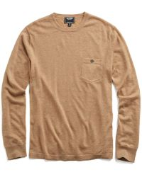 Todd Synder X Champion - Cashmere T-shirt Sweater In Camel - Lyst