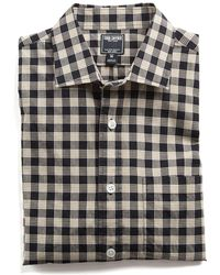 Todd Snyder - Spread Collar Black Check Shirt - Lyst