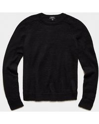 Todd Synder X Champion Brushed Italian Mohair Wool Sweater - Black