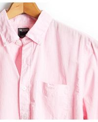 Todd Synder X Champion - Button Down Linen Shirt In Pink - Lyst