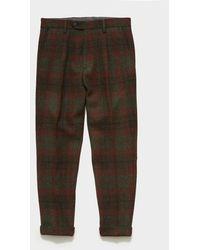Todd Synder X Champion Harris Tweed Wool Pleated Pant - Brown