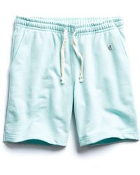 Todd Synder X Champion Terry Warm Up Short In Surf Green
