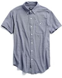 Todd Snyder - Piqué Buttonfront Polo In Navy - Lyst