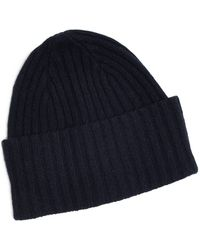 4fcfacc8a98 Drake s - Brushed Merino Wool Hat Navy - Lyst