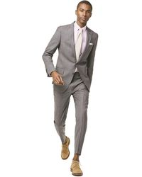 Todd Synder X Champion Sutton Suit Jacket In Italian Natural Stretch Light Gray Wool