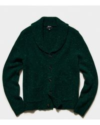 Todd Synder X Champion Cashmere Donegal Cardigan - Green