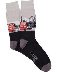 Corgi London Scene Sock - Black