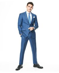 Todd Snyder - Sutton Suit Jacket In Italian Natural Stretch Petrol Blue Wool - Lyst