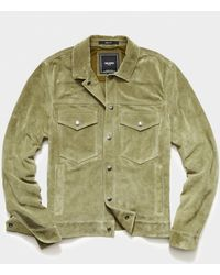 Todd Synder X Champion Italian Suede Snap Dylan Jacket - Green