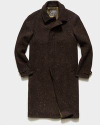 Todd Synder X Champion Italian Donegal Twill Balmacaan Coat - Brown