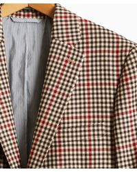 Todd Synder X Champion Red And Brown Check Sutton Suit Jacket