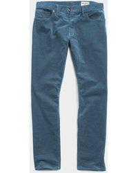 Todd Synder X Champion Slim Fit 5-pocket Stretch Italian Cord - Blue