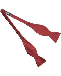 Drake's - Satin Red Square End Bowtie - Lyst