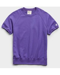 Todd Synder X Champion Lightweight Short Sleeve Sweatshirt - Purple