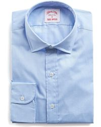 Hamilton - Blue Solid Pima Twill Shirt - Lyst